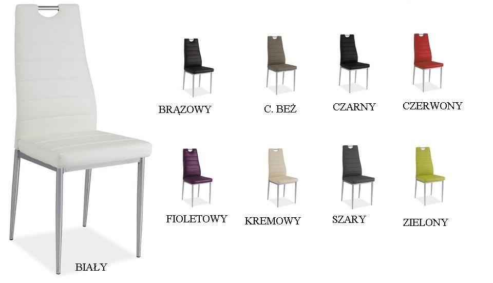 Krzesło H260 ekoskóra chrom